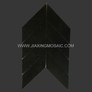 Black chevron ceramic body tru mosaic tile