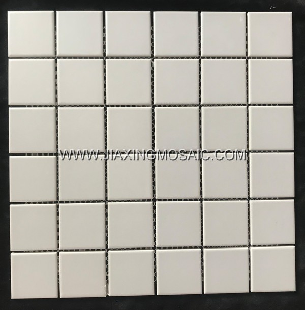 Grey color square porcelain mosaic tile