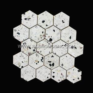 Hexagon Terrazzo Mosaic Tile