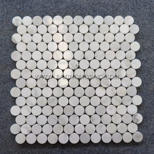 Penny Round Oriental Jade Circular Rounded Mosaic Tile