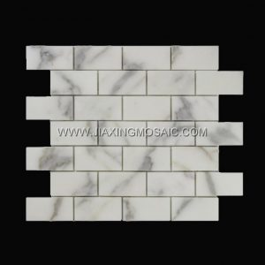 Calacatta Gold Polished Marble Mosaic 1.5x3