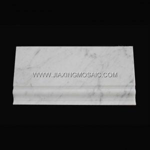 Carrara White Baseboard Tile