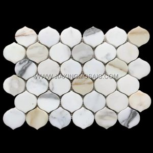 New Design Calacatta Gold Arabescato Mosaic Lantern Tile