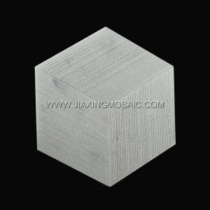 Chiselled Brushed Grooved Diamond Carrara White Marble Mosaic Tile