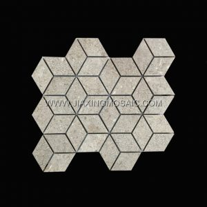Grey Cubic Porcelain Tile