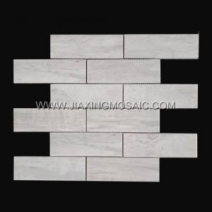 Eurasian Wood Grain Brick Marble Mosaic Tile 148*48MM